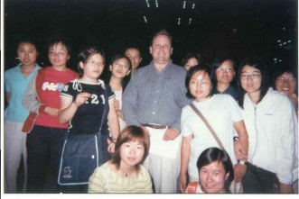 This is me acting as faculty advisor and guest speaker to an English Corner meeting in China.