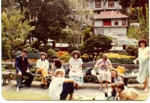 Maranatha youth Group and I at Botanical Gardens in Wellington New Zealand