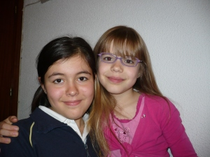 My niece Anika with one of her good friends and schoolmates in Mexico