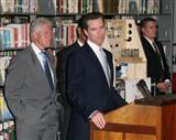 San Francisco Mayor Newsom in an unrelated appearance with Former Pres. Clinton