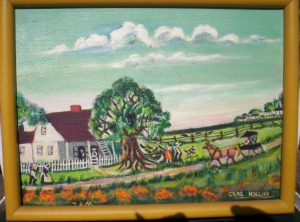My great grandmother painted glimpses of Cajun life -- this is one of those.