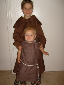 My nephews Dominic and Thomas  as Saints OFm