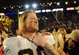 Tight End Jeremy Shockey Celebrates the Game's Highest Achievement