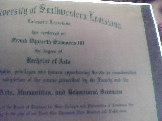 USL Diploma photo