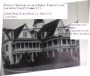 Palms Hotel & Hospital owned by great-grands, later grandmother &sibs