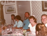 Summers family dining at the cloisters at Sea Island