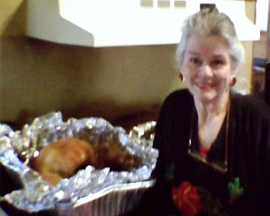 A Christmas turkey opened like the one ready for Thanksgiving here and now.
