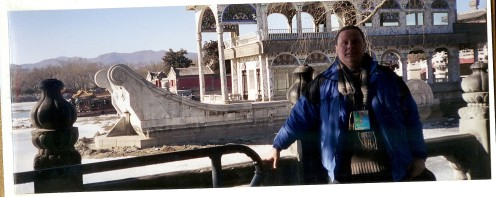 This is the author of this blog. I am standing beside the stone boat in the Summer Palace in Beijing.