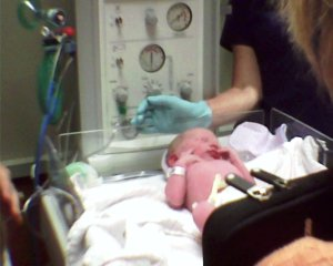 My nephew Isaac in an American hospital shortly after birth