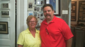 That's me with docent Casa Vice at the Acadian Museum several years ago