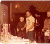 A dinner over a holiday other than the principal dinner at the home my grandparents owned on 1812 Palmer Avenue in New Orleans -- my uncle Will and I