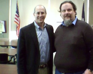 Dr. Boustany and I at a town hall meeting.