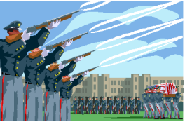 Military expressions are often part of Louisiana funerals.