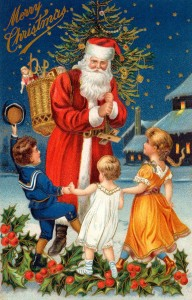 Santa Claus is a powerful Christmas symbol in America today.  Santa is certainly part of the landscape of my holiday.