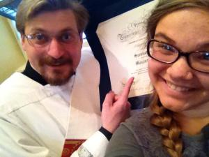 Alyse with recently ordained Sam Fontana