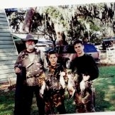 Huntfam Dad&bros with ducks