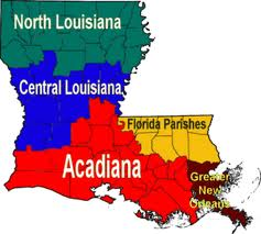 Louisiana regional map bold