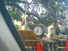 new courthouse clock going up in Abbeville... at the time of my last post...