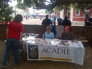 Acadian Museum table at an Abbeville farmer's market.