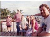 Beach deck family