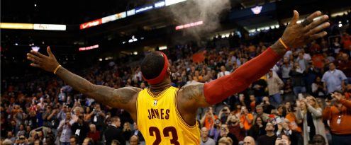 A moment of triumph for Cleveland