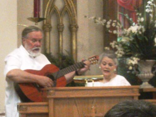 Dad and Mom sing