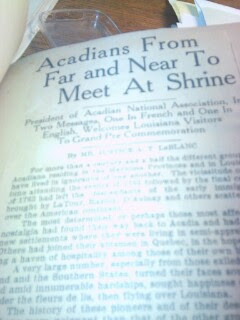 Press from Acadian Museum Corinne Broussard Scrapbook