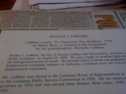 press from Corinne Broussard Scrapbook -- Acadian Museum