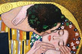 Kiss painting Klimt