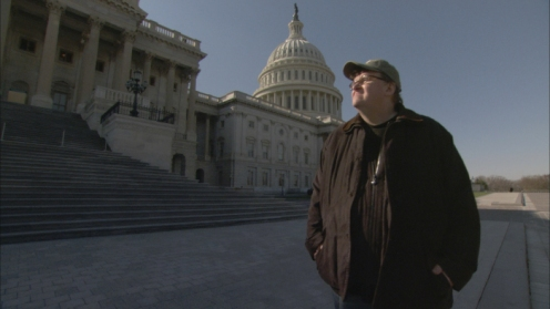 Michael Moore pays a visit to the U.S. Capitol. Moore's new film, Capitalism: A Love Story, will be in theaters nationally on October 2nd. Released by Overture Films.
